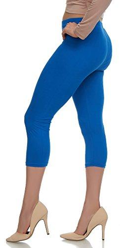 LMB Lush Moda Extra Soft Capri Leggings - Variety of Colors - Royal Blue ()