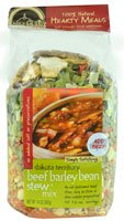 Frontier Soups Hearty Meals Dakota Territory Beef Barley Bean Stew Mix -- 14 oz (Barley Soup Mix)