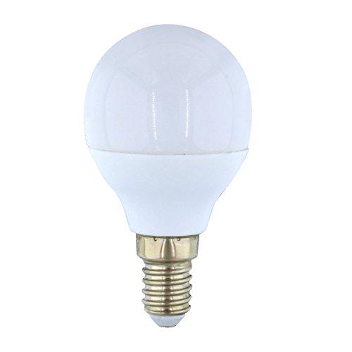 Bombilla LED esférica 5W de rosca E14 Luz neutra 5000ºK. Alta luminosidad 320 Lm.: Amazon.es: Iluminación