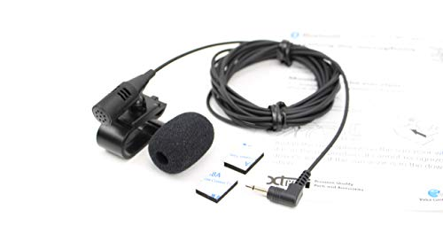 Xtenzi External Microphone Mic Assembly Compatible with Pioneer Car in Dash  DVD Navigation