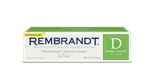Rembrandt, Deeply White, PeroxideWhitening Fluoride Toothpaste Mint, 2.6 oz
