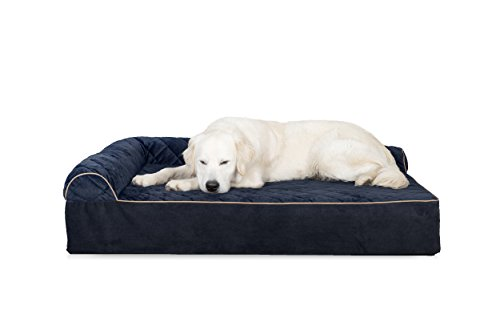 Furhaven Pet Dog Bed | Deluxe Orthopedic Goliath Quilted L-C
