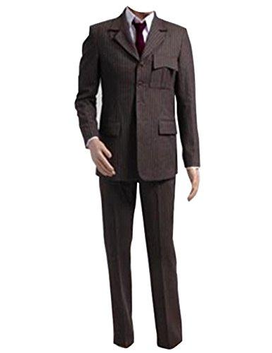 Cosdaddy Doctor Dr. Who Costume Tenth 10th Doctor Trench Coat Suit (XXS, Blazer Suit)