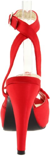 Femme Bettie 04 Ouvert Rouge Pin Bout Couture Up EHxq11Y4