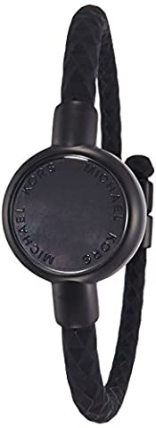 Michael Kors Access Activity Tracker Crosby Silicone Black Bracelet (Watches Michael Kors In Clearance)