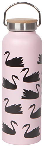 Now Designs 5122005aa Hydration Bottle Double Wall Stainless Steel, 18 Ounce, Swan Lake