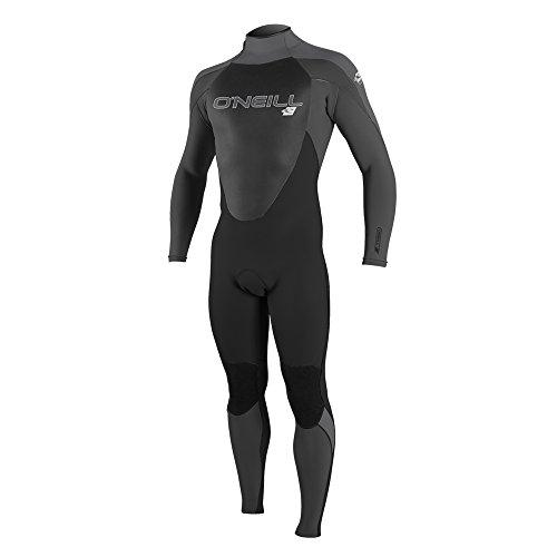 O'Neill Men's Epic 4/3mm Back Zip Full Wetsuit, Black/Oil/Smoke, Large
