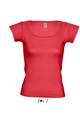 Sols - Camiseta - para mujer Rojo - rojo