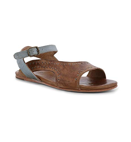 Bed|Stu Women's Auburn Leather Sandal (7 M US, Tan Sage Rustic Gold Metallic) ()