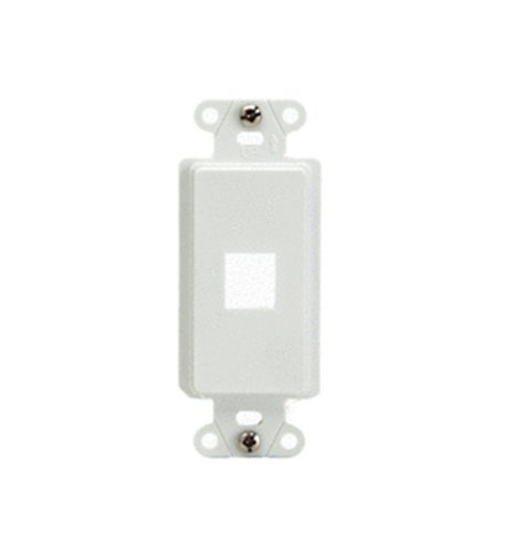 Legrand - On-Q WP3411WH 1-Port QuickPort Decorator Outlet Strap, White ()