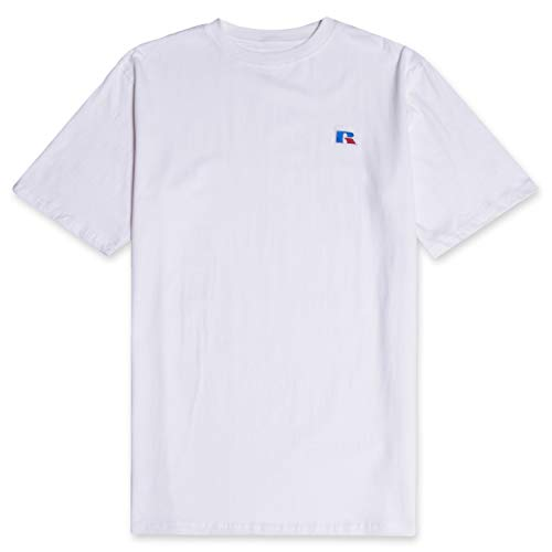 - Russell Mens Big and Tall Cotton Jersey Tee Shirt Classic Logo White 3X Tall