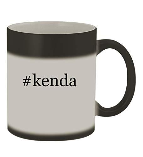 #kenda - 11oz Color Changing Hashtag Sturdy Ceramic Coffee Cup Mug, Matte Black