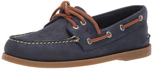 Sperry Men's Authentic Original Richtown Boat Shoe,Navy,10.5   - Eyelet Lacing System