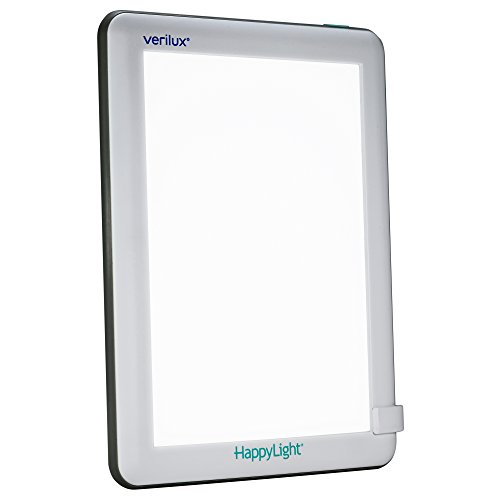 Verilux HappyLight Lucent 10,000 Lux LED Bright White Light Therapy - Light Phototherapy Box