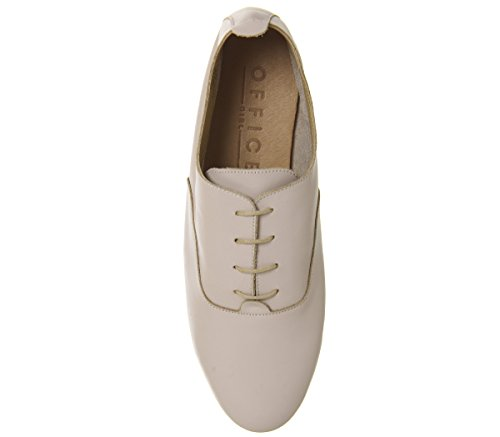 Nude Flats Lace Up Leather Office Softy Fatal EIqaXa