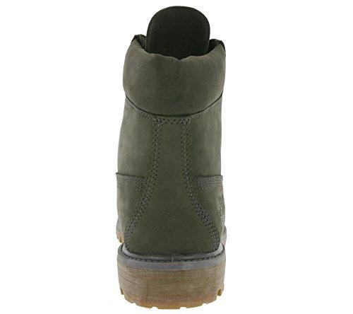 Timberland 6 inch Premium Waterproof, Botas De Cuero Impermeables Hombre Gris