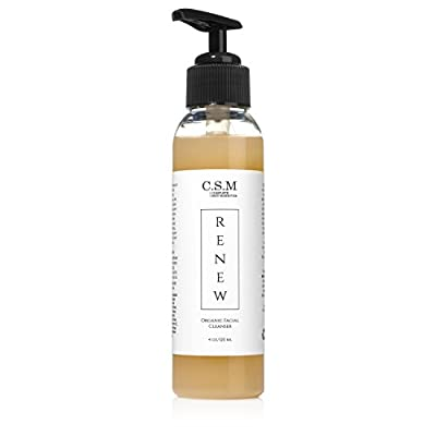 C.S.M. RENEW Facial Wash for Smoother, Radiant Skin - Organic Face Wash with Aloe, Lavender, White Willow Bark with Anti Aging Results for Men and Women