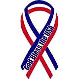 Red, White, Blue God Bless the USA Mini Ribbon Magnet