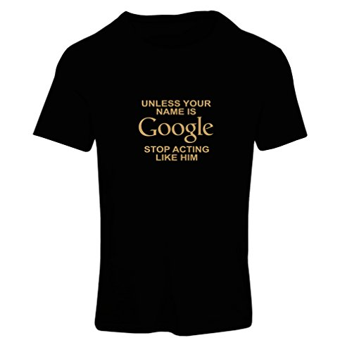 N4080F Camiseta mujer I don''t need Google, my wife knows everything gift' Negro Oro