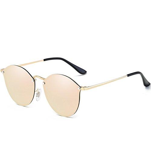 bordure lunettes sans de de lunettes Pink lunettes de polarisées femme de plage soleil rétro coréen style soleil style soleil soleil Nouveau soleil de lunettes Lunettes de lunettes Lunetterie soleil rondes UdqxPUZa