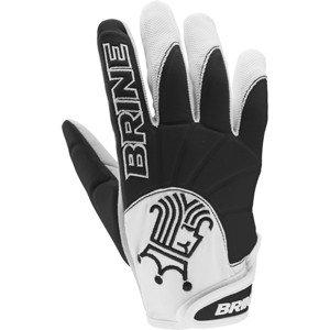 Brine Silhouette Compression Molded Lacrosse Warm Weather Glove (Large, Black)