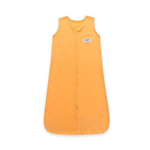 (Lat Baby Sleepsack Cotton Wearable Blankets Sleeping Bag Medium 6-18 Months 16-26 Lbs Length 32''(Orange))