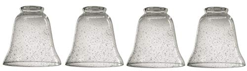Dysmio Lighting Clear Seeded Glass Bell - Pack of 4
