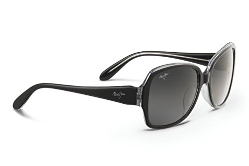 Maui Jim Womens Kalena 57 Sunglasses (299) Black Shiny/Grey Acetate - Polarized - - Hawaiian Kalena Meaning