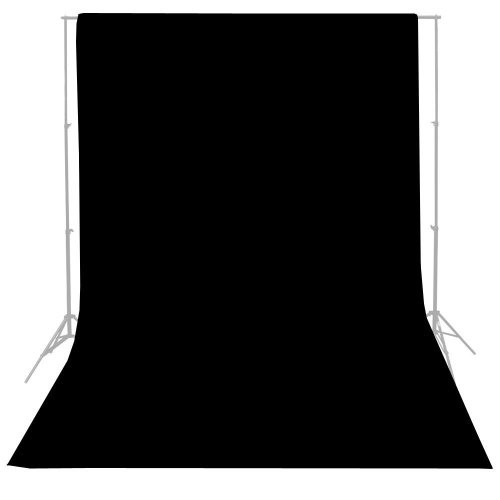 ePhoto 10ft x 10ft Seamless Black Muslin Backdrop Photo Studio Photography Cotton Background New 1010B