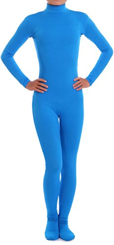 VSVO Lycra Spandex Zentai Unitard Catsuit for Adults and Children (Large, Blue) ()