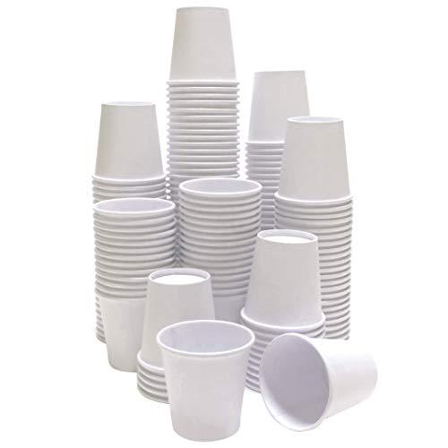 TashiBox 4 Ounce Thick Espresso Cups Travel To Go 4oz-200, White