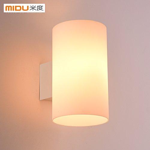 SISANLAI Up Down Wall Lights Led Wall Lamp Bedroom Bedside Lamp Modern  Minimalist Glass Japanese Living