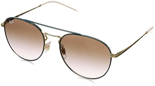 Ray-Ban Women's Metal Woman Sunglass Square, Gold TOP ON Green, 55 ()