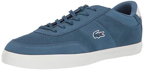 Lacoste Men's Court-Master Sneaker, blue/off white, 9.5 Medium US