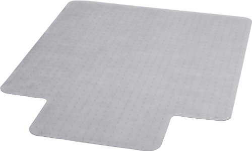 Flash Furniture MAT-CM11113FD-GG 36-Inch by 48-Inch Carpet Chairmat with Lip, Clear (Floor Mat Computer)