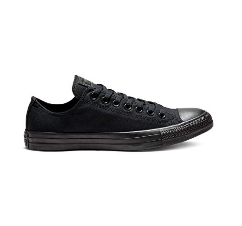 Converse Unisex Chuck Taylor All Star Low Top Black Monochrome Sneakers - 6.5 US Men/8.5 US Women