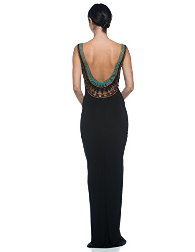 long black evening dresses low back - 6