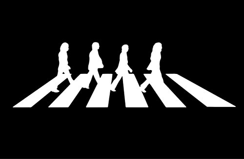 NI994 The Beatles Abbey Road Decal Sticker | 7.5-Inches By 2-Inches | Premium Quality White (Abbey Bowl)