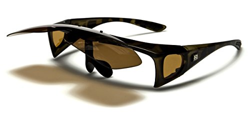 Designer Flip Up Sunglasses - Polarized Flip Up Fit Over Sunglasses