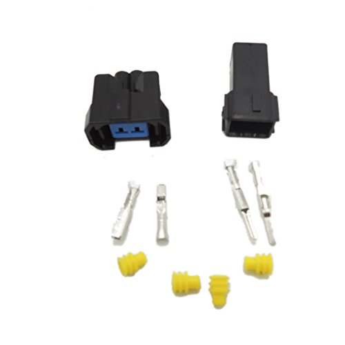 5 set Fuel Injector Plug Car Waterproof 2 Pin way Electrical Wire Connector Plug automobile Connector: