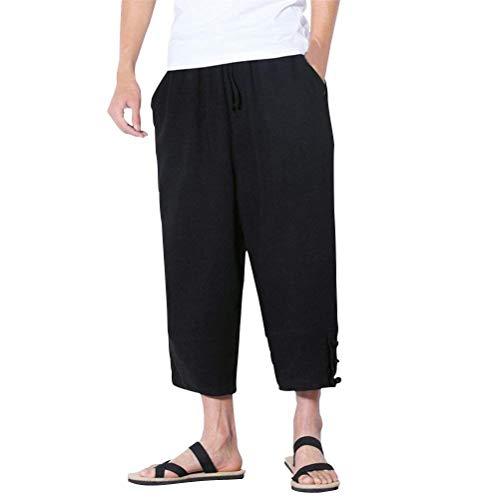 3 Skinny Aladin Nero Huixin Pants Pantaloni 4 Lino Fondo Uomo Direct Loose In Casual Teenagers Traspirante Harem A SxBxwpq