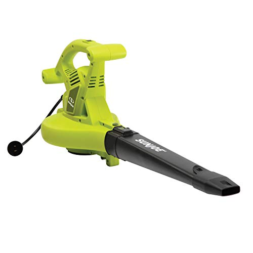 Sun Joe SBJ605E 14-Amp up to 250 MPH 3-in-1 Electric Blower Vacuum Mulcher, Green