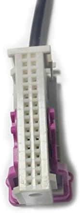 プラスチック 金属製 オーディオ AUXスイッチアダプター ケーブル アウディ A3 A4 A6 A8 TT RNS-Eのため