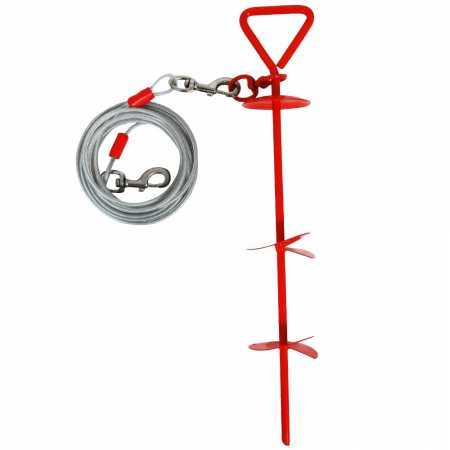 Petmate Super Dog Stake with 20-Feet of 4200-Pound Cable