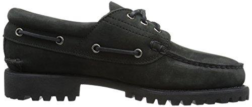 Herren Bootsschuhe Authentics 3-Eye Classic black Nubuk, Black Nubuck, 41 EU
