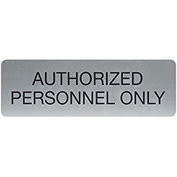 Weatherproof Plastic Vertical Server Room Authorized Employees Only Sign with English Text SignJoker