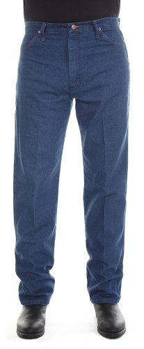 Smith Short Denim Pant - Wrangler Men's 13MWZ Cowboy Cut Original Fit Jean, Prewashed Indigo, 36W x 32L