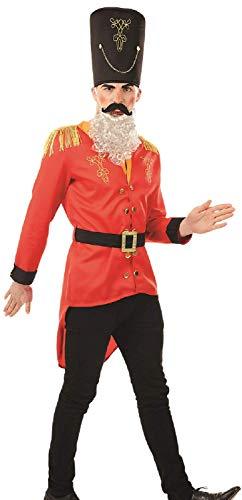 Mens Christmas Nutcracker Tin Toy Soldier Drummer Boy Xmas Festive Fancy Dress Costume Outfit M L XL ()