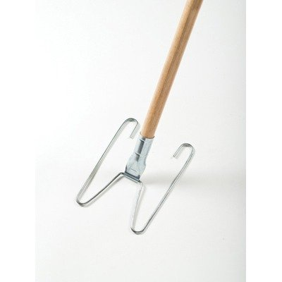RCPU110 Wedge System Dust Mop Handle/Frame, 54quot;, Natural/Chrome