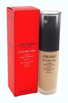 Shiseido Synchro Skin Lasting Liquid Women's SPF 20 Foundation, No. 2 Neutral, 1 Ounce